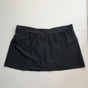 Christina Black Bathing Suit Skirt / Bottom Sz 18